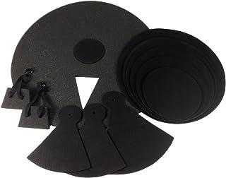 12個入りDRUM PRACTICE PADS - サイレントブラックフォームクワイエット12枚カバーNEW SET