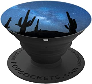 Cactus Milky Way at Night I Desert Cacti Nature Outback - PopSockets Grip and Stand for Phones and Tablets