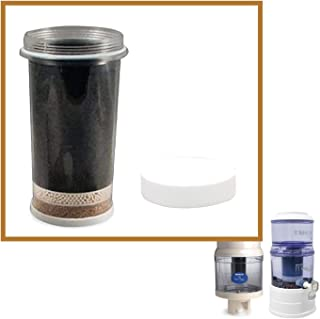 Nikken Aqua Pour 1 Filter Cartridge 1361, 1 Micro Sponge Pre-Filter 1362 - Advanced Replacement for Gravity Water Filter Purifier System 1360, PiMag Water System