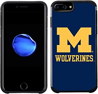 Prime Brands Group Textured Team Color Cell Phone Case for Apple iPhone 8 Plus/7 Plus/6S Plus/6 Plus - NCAA Licensed University of Michigan Wolverines