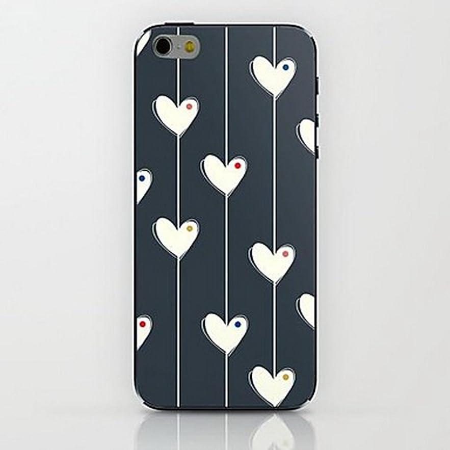 緯度バウンスドロップInonler iPhone SE用、iPhone 5S用、ブラックケースの女の子ケースの愛と心