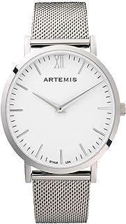 Artemis Wrist Wear Unisex Watch Silver Face Silver Mesh Bracelet 40 MM Analog Minimalist Men's Watch Women's Watch Wrist Wear