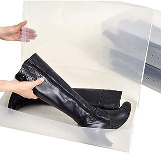 女性用ブーツボックス 透明クリアーケース【靴箱/収納】【コモストック】 (a_ロング3箱)