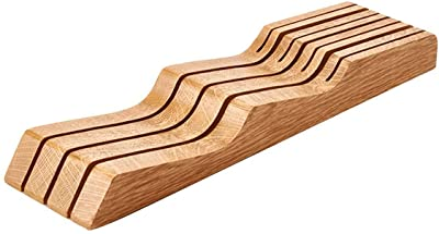 ウォームタイム(Warm time)包丁スタンド 包丁立て ナイフスタンド 7本用 木製 滑り止め キッチン収納