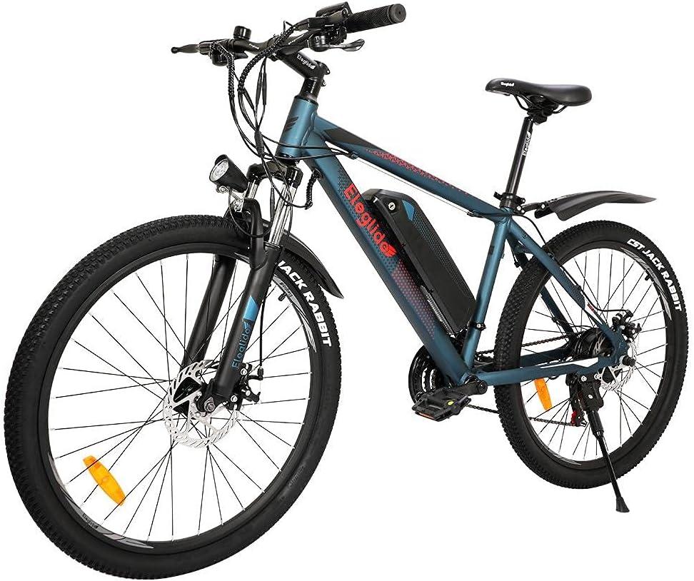 """Eleglide Vélo Électrique,26"""" Vélo Électrique en Montagne,250W Moteur VTT Électrique pour Adulte vec Batterie Amovible 36V / 7.5AH Professionnel Shimano 21 Vitesses-M1"""