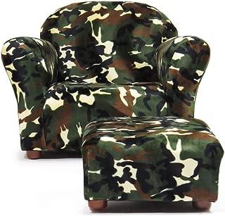 KEET Roundy Kid's Chair with Ottoman, Camo