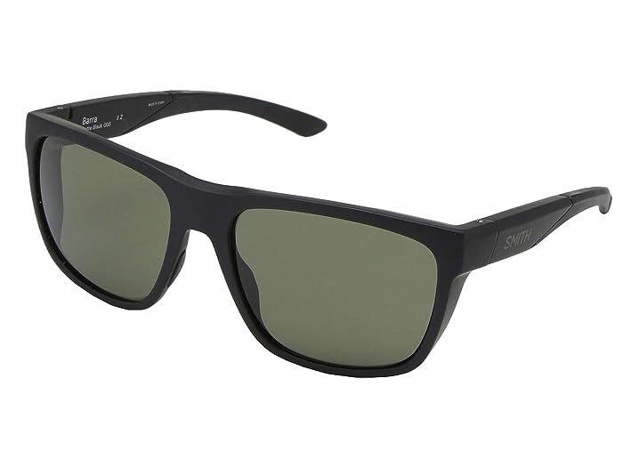 Barra (Matte Black/Chromapop Grey Green Polarized) Athletic Performance Sport Sunglasses