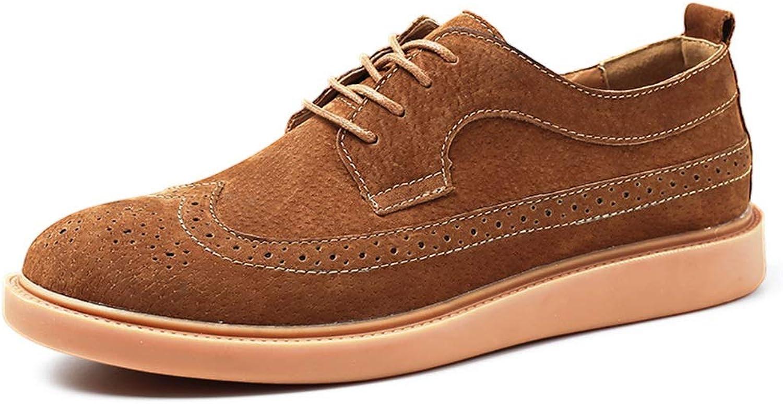 YJiaJu Herrenmode Oxford Casual Classic Classic Classic Britischen Stil Geschnitzte Lace Up Brogue Schuhe (Farbe   Braun, Größe   44 EU)  b975aa