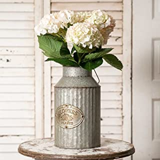 Vintage Industrial Farmhouse Chic Flowers and Plants Can with Handle (Does Not Come with Flowers)