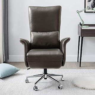 Chaise de jeu MHIBAX Chaise dedirection à dossier confortable en cuir, chaise d'ordinateur, chaise de bureau