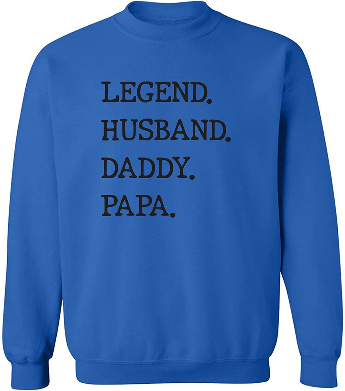 Legend. Husband. Daddy. Papa. Crewneck Sweatshirt