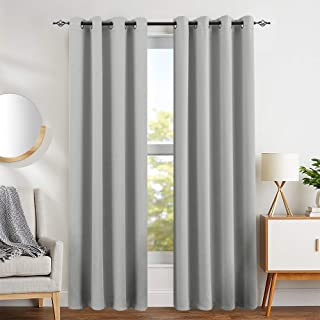Blackout Curtains for Living Room Thermal Insulated Light Blocking Triple Weave Drapers Grommet Top 1 Pair 84