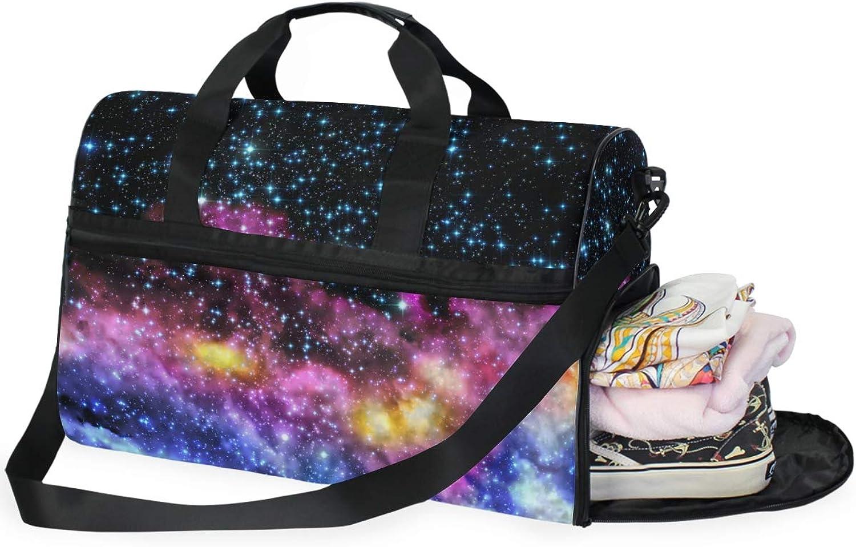 9b0944e04688 MONTOJ Galaxy Universe Sky Oversized Travel Tote Duffel Shoulder ...