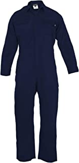 Just In Trend ǀ Flame Resistant FR Coverall - 88% C / 12% Nylon (4X Large, Navy Blue)