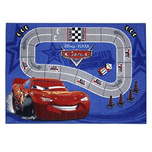 GUIZMAX Compatible avec Tapis Enfant Cars 133 x 95 cm Disney Racetrack