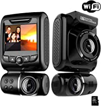 Dual Dash Cam for Cars - Front and Rear 1080P FHD Car DVR Dash Camera Recorder with WiFi ,150° Wide Angle, Super Night Vision, G-sensor WDR, Loop Recording