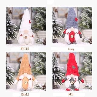 Handmade Swedish Gnome Santa Scandinavian Gnome Plush Figurines Gnome Elf Christmas Ornaments Gifts Home Christmas Decoration(Gray)