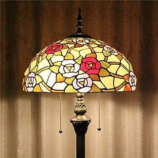 HDO 16 pouces fleur fleur rose style pastorale européen élégant luxe créatif fait main vitrail lampadaire