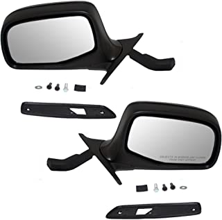 Driver and Passenger Manual Side View Paddle Type Mirrors Replacement for Ford F7TZ17683AAB F7TZ17682AAA