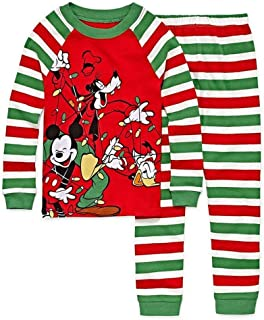 55be273bcb Disny Collection Mickey and Friends Christmas Lights Toddler Holiday Pajama  Set