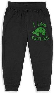 イーピン天城 I Like Turtles 子供服 キッズ ロングパンツ ジュニア ズボン ロングパンツ ストレッチパンツ おしゃれ Black