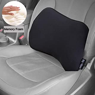 Big Hippo Lumbar Support Pillow - Memory Foam Lumbar Pillow Back Cushion Designed for Lower Back Pain Relief- Ideal Back Pillow for Office Chair, Car Seat and Wheelchair