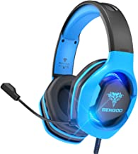 BENGOO G9500 Gaming Headset Headphones for PS4 Xbox One PC Controller, Over Ear Headphones with 720°Noise Cancelling Mic, ...