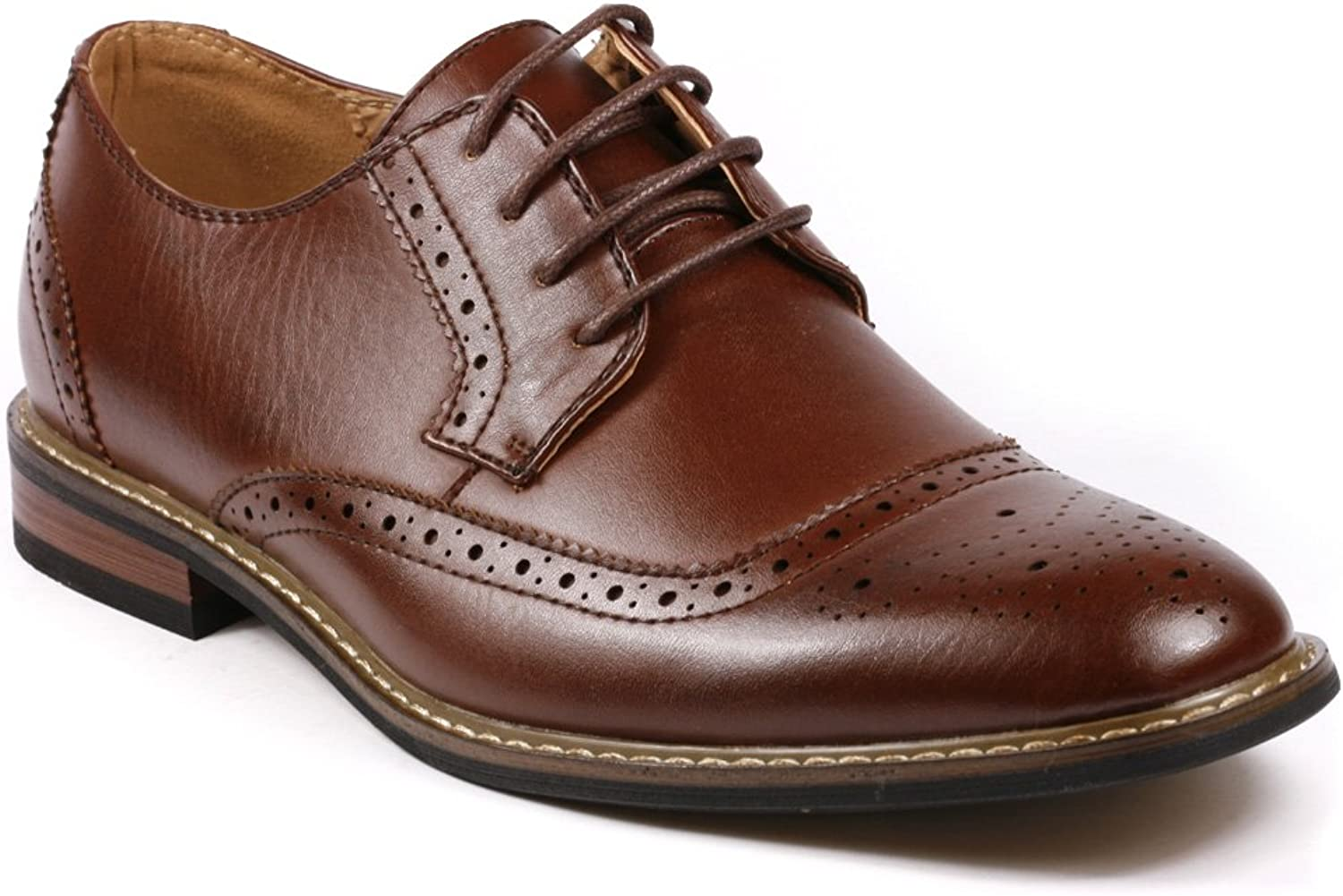Metrocharm Alex-05 Men's Perforated Lace Up Oxford Dress shoes