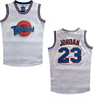 Datoudiedi Space Jam Tune Squad 23# White Mesh Movie Jersey for Kids/Youth