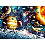 Katosca 1000 Piece Space Jigsaw Puzzles DIY Adult Kids Outer Space Astronaut Puzzles, Cosmic Galaxy Grown up Puzzles Educational Games