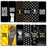 Creanoso Black Lives Matter Bookmarks Cards (30-Pack) - Classroom Reward Incentives for Students and Children - Stocking Stuffers Party Favors & Giveaways for Teens & Adults