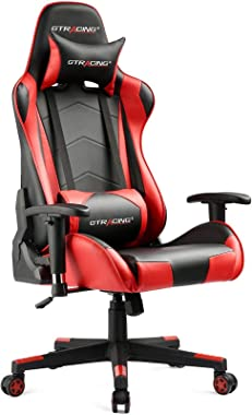 GTRACING Gaming Chair Racing Office Computer Ergonomic Video Game Chair Backrest and Seat Height Adjustable Swivel Recliner w