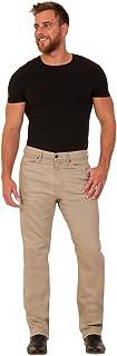FashionLabels4Less Ex High Street Brand Mens 8450 Regular Fit Jean with Stretch Straight Leg