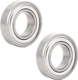 Lheng 4Pcs 6203-2RS Deep Groove Ball Bearing 17mmx40mmx12mm Double Shielded Chrome Steel Bearings