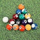 Labuduo Bola de Billar de 32MM, Mini Bola de Billar de 16PCS 32MM, Mini Billar de Resina de Juguete de Bola de Billar para niños para Salas de Juegos Juegos de recreación Deportiva