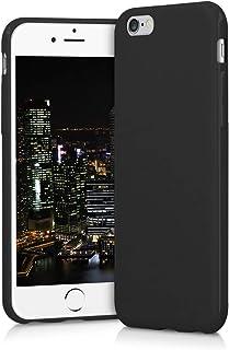 kwmobile Funda Compatible con Apple iPhone 6 / 6S - Carcasa de TPU Silicona - Protector Trasero en Negro Mate