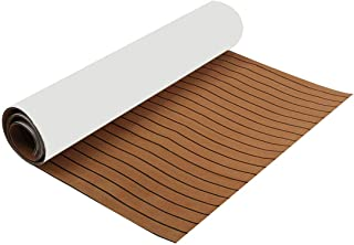 DB Decorative Materials, Boat Flooring Decking Sheet Pad 2400x1200x6mm EVA Foam Brown Faux Teak