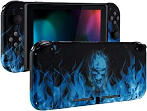 eXtremeRate Back Plate for Nintendo Switch Console, NS Joycon Handheld Controller Housing with Full Set Buttons, DIY Shell for Nintendo Switch