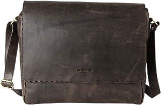 HOLZRICHTER Berlin - Premium Umhängetasche M aus Leder - Handgefertigte Messenger Bag im Vintage Design - Ledertasche für Herren und Damen