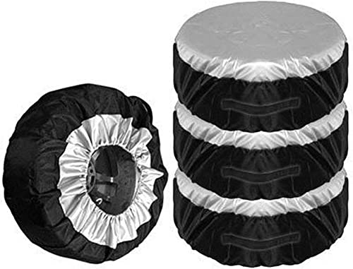lowest Larcele 4 Pieces Tire Covers Universal Wheel Covers Protector for Truck, SUV, online Trailer, Camper, lowest RV FCBHT-01 (Diameter 65cm/25.6inch) online sale