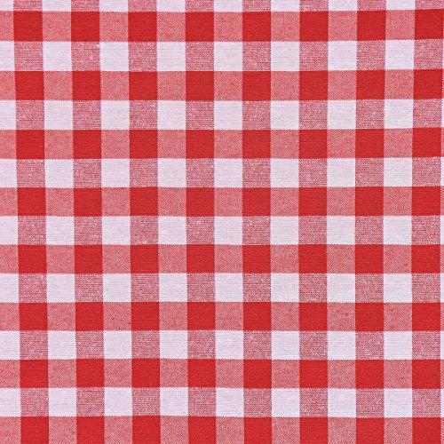 Mooi leven. Decoratieve stof ruiten rood wit ruitengrootte ca.1,5 cm