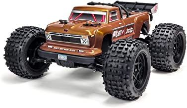 ARRMA 1/10 OUTCAST 4X4 4S BLX Brushless 4WD RC Stunt Truck RTR with 2.4GHz Spektrum Radio (Battery Not Included), Bronze (ARA102692)