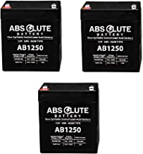 3 Pack New AB1250 12V 5AH SLA Replacement Battery for Genesis Datasafe NPX-25TFR