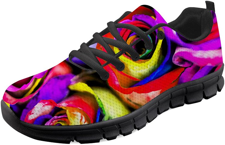 HUGS IDEA Men's Lightweight Running shoes Outdoor Lace up Mesh Sport Sneakers