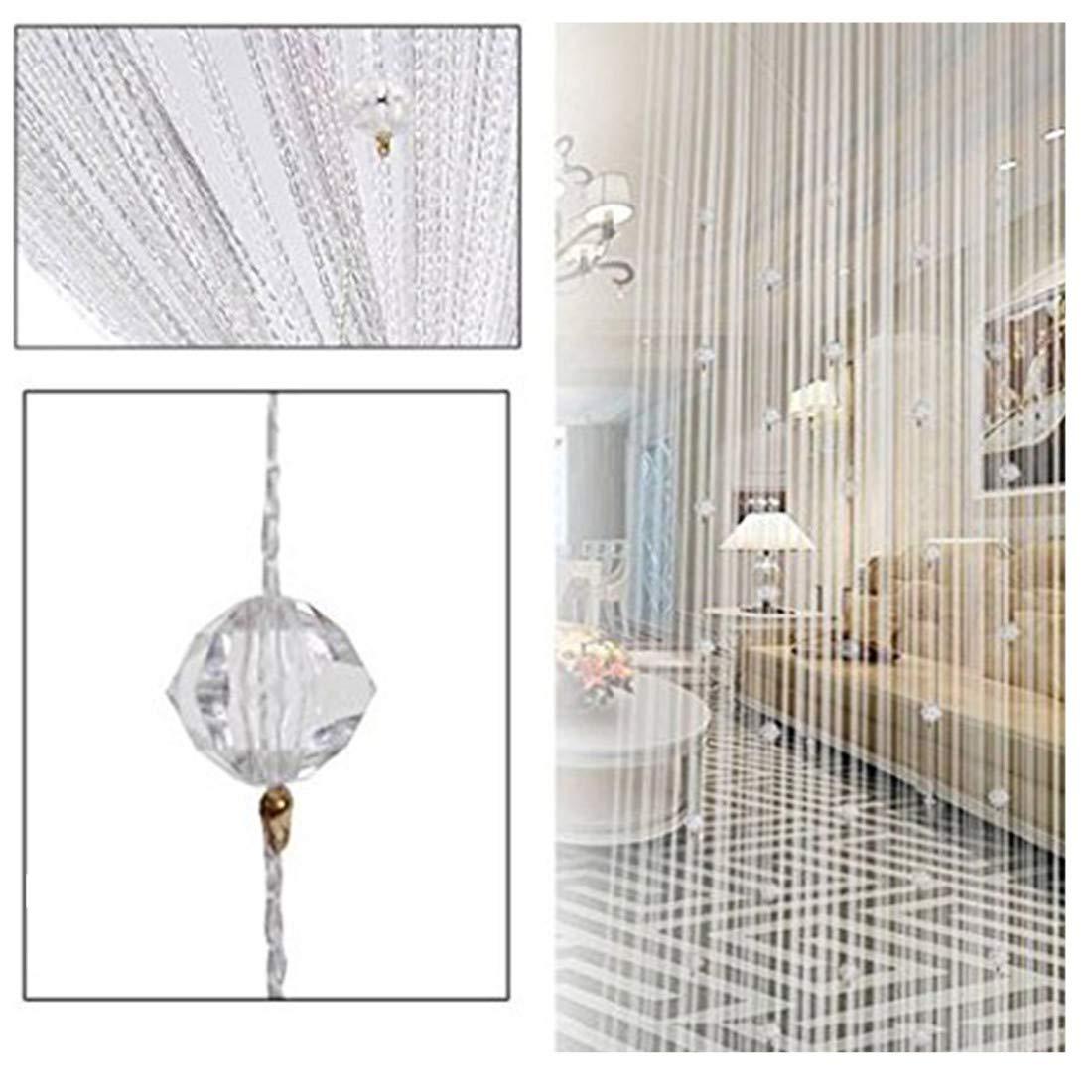 Crystal Bead Curtain String Room Divider Window Panel Wedding Home Door Drapes