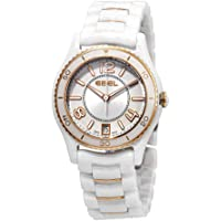 Ebel X-1 Silver Dial White Ceramic Ladies Watch