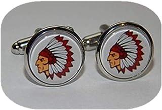Leonid Meteor Shower Injun Gemelos, joyería nativa americana, gemelos de jefe indio, joyería de cristal domo, puro hecho a...