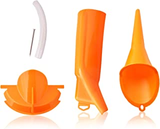 VideoPUP Oil Funnel Kit,Motorcycle Crankcase Fill Funnel Compatible with Harley,Orange