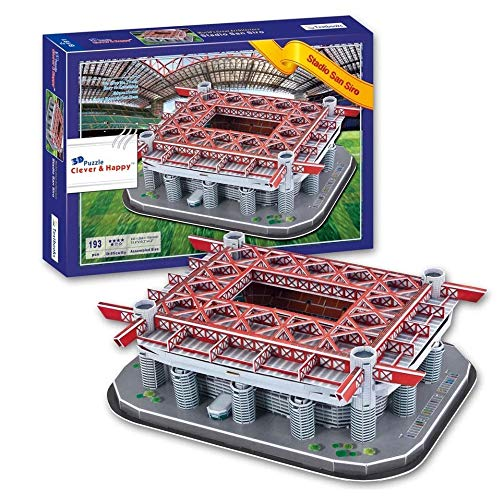 EP-Toy San Siro Sports Stadium Puzzle Model Kits, Handmade DIY 3D Kid's Toys And Gifts, 13.6Inch × 10.2Inch × 4.2Inch