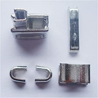 2 sets silver #10 metal zipper head box zipper sliders retainer insertion pin easy for zipper repair,Zipper Repair Kit (#10)